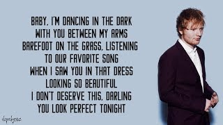 Video Perfect - Ed Sheeran (Lyrics) download MP3, 3GP, MP4, WEBM, AVI, FLV April 2018