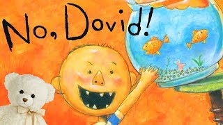 Gambar cover No, David! by David Shannon   Children's book read aloud   Ms. Becky & Bear's Storytime