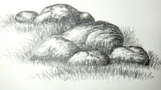 How to draw rocks or stones with pencil