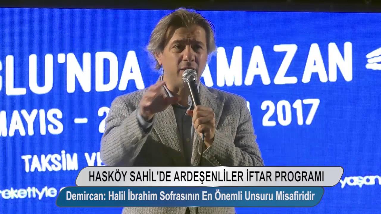 Ardeşenliler ile Hasköy Sahil'de iftar programı