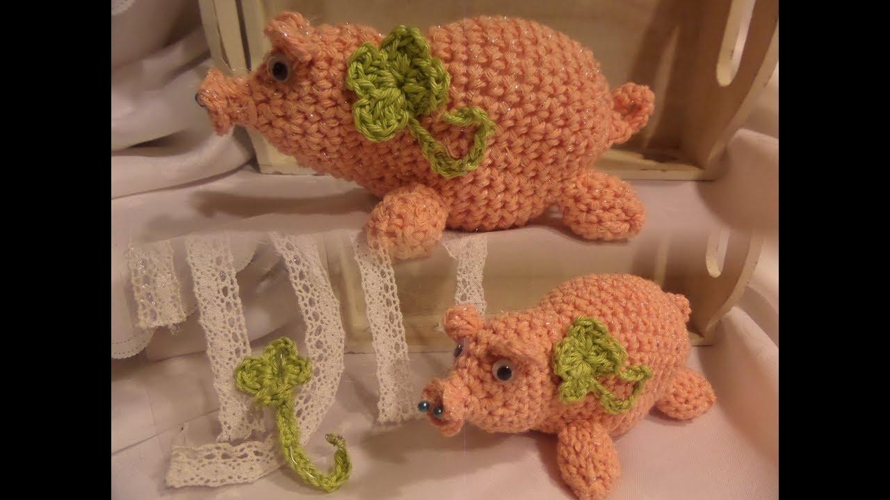 Diy Glücks Schweinchen Glücksbringer Häkeln Selber Machen