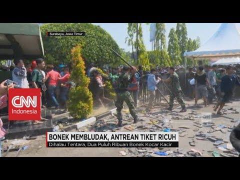 Bonek Membludak, Antrean Tiket Ricuh, Persebaya Surabaya vs Arema Malang