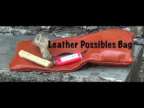 Simple Belt Possibles Leather Bag