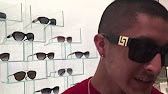 9a08e3d9fbcae vintage versace sunglasses 617b (white) - YouTube