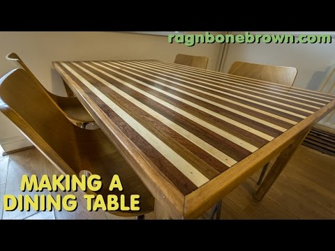 Making A Dining Table With Mahogany, Teak, Oak, Pine & Spruce (part 2 of 2)