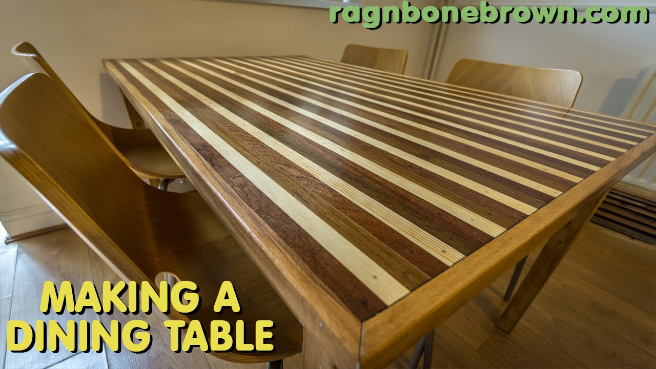 Making A Dining Table With Mahogany, Teak, Oak, Pine U0026 Spruce (part 2 Of 2)    YouTube