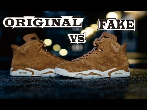 authentic pretty cool finest selection Nike Air Jordan 6 Retro Golden Harvest & Sail Original & Fake