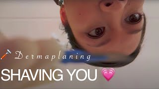 ASMR Shaving Your Face ~ UNISEX ~ Facial Dermaplaning