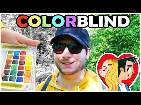 COLOR BLIND ARTIST - Trying Enchroma Glasses!