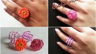 Diy Adjustable Rings & Hot Glue Gun Rings - Gift Ideas For Girls - Valentine's Week