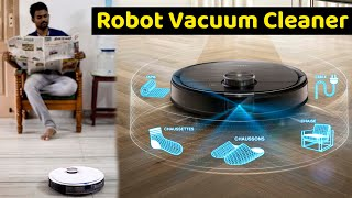 ⚡️வித்தியாசமான Cleaning Robot🤖 | Ecovacs Deebot OZMO T8 Robot Vacuum Cleaner – Unboxing & Review