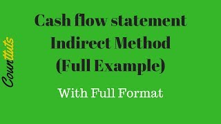 Cash Flow Statement - Indirect Method (Full Example)