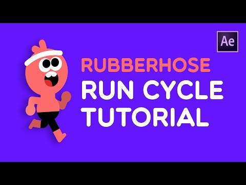 Rubberhose Run Cycle Tutorial | How To Animate (After Effects)