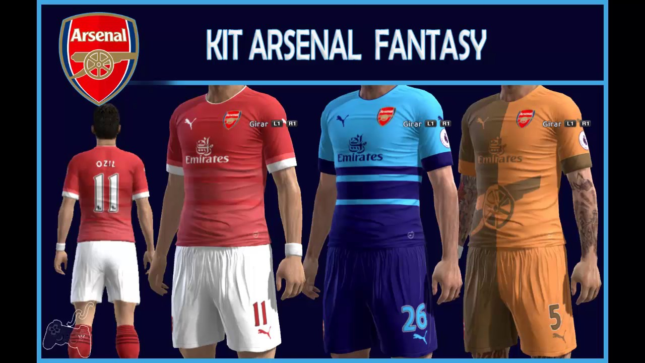 Kit Arsenal • FANTASY • Liga Master - YouTube