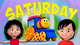 боб поезд | выходные песни для детей | детские стишки | Bob Train Weekend Song For Kids