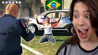 JOGANDO GTA 5 COMO UM POLICIAL DO BRASIL!! (Incrível)