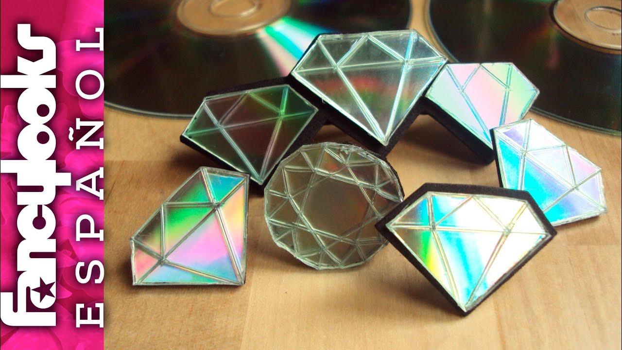 Haz diamantes con tus cds usados me gusta reciclar doovi - Manualidades con cd usados ...