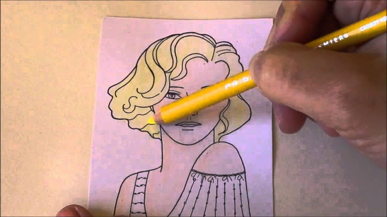 Come Colorare Un Disegno.Come Colorare Un Viso Con I Pastelli Youtube