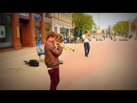 Street Band From Latvia Perform 'Dancing Queen' By ABBA