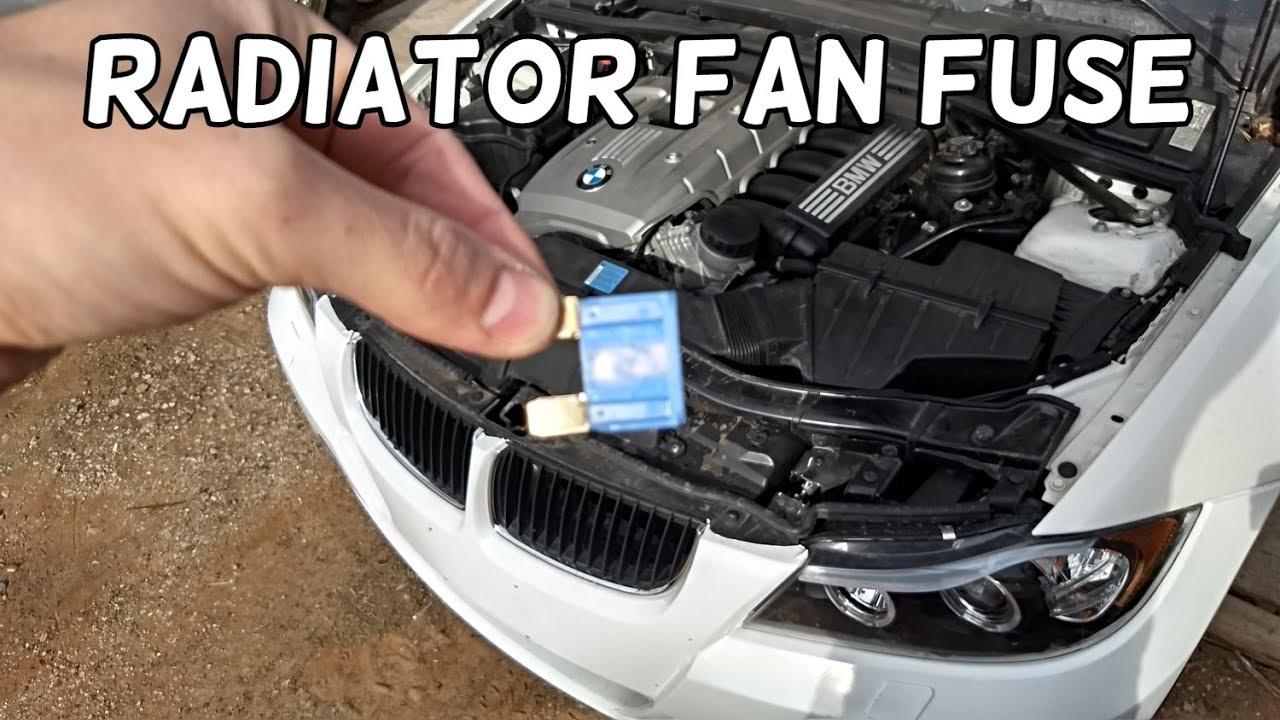 small resolution of radiator fan fuse location and replacement bmw e90 e91 e92 e93