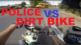 BADASS CR250 Dirt bike Police Chase Getaway