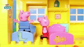Otroške kocke Peppa Pig družinica v hišici PlayBIG