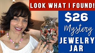 $26 Jewelry Jar Unjarring | 2019 Thrift Store Jewelry Jar Unjarring | Plus Fred shows up at the end!