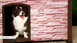 Precision Extreme Outback Woodstone Dog House - Rust Creek - Product Review Video