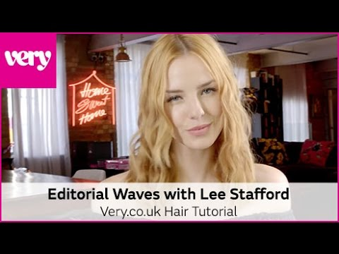 How to Create Editorial Waves with Lee Stafford Academy Straighteners | Very Beauty