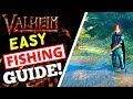 Valheim - Fishing Guide! How To Get Fishing Rod + FISH!