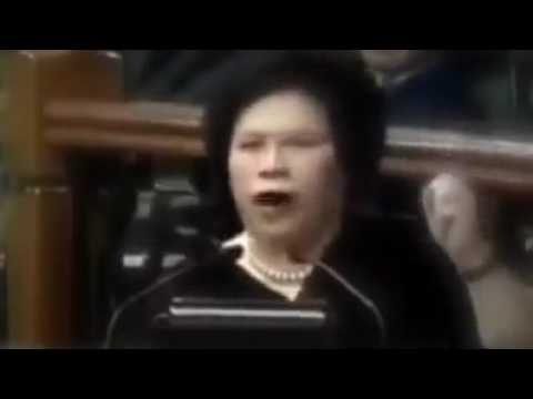 Sen. Miriam defend Ferdinand Marcos. to the senate currupt