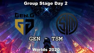 GEN vs TSM Group Day 2 WORLDS 2020 Чемпионат Мира GEN G vs Team SoloMid