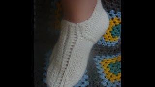Как связать следочки спицами без шва на двух спицах?(В видео рассмотрим еще один способ вязания следков на двух спицах без шва. How to knit socks knitting needles? Следки..., 2014-05-11T19:01:31.000Z)