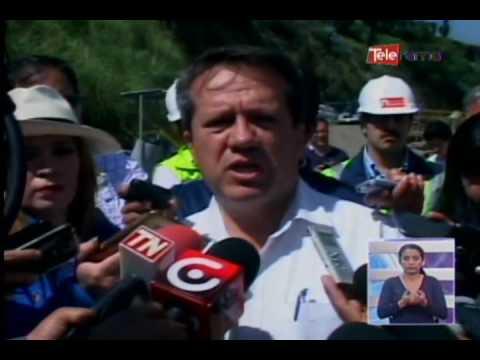 Ministro de transporte Boris Córdova recorre obras de tranvía