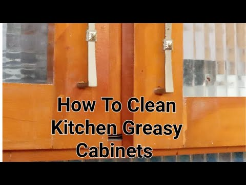 Kitchen Sticky Cabinets Cleaning Tip/ How To Clean Kitchen's Greasy Cabinets & Chimney Within MINUTE