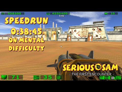 Serious Sam: The First Encounter - SpeedRun - 0:38:45 (Mental Difficulty)