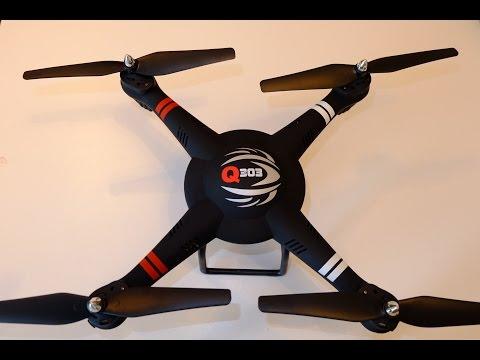Quadrocopter Q303 Drohne Test Teil 1 - Unboxing, Installation, Erste Eindrücke [DEUTSCH]