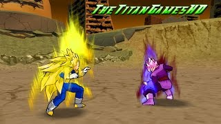 Dragon Ball Z Shin Budokai 2 Mods - Black Goku Ssj Rose Vs Vegeta Ssj3