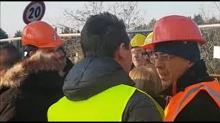 Il ministro Toninelli visita il cantiere del Ponte San Michele
