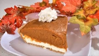 No Bake Pumpkin Pie Recipe - Happy Thanksgiving