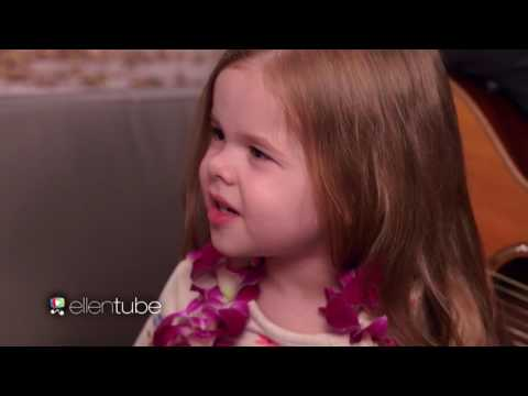 Adorable 3 years old Claire with Moana Star Aulii Cravalho Sing How Far Ill Go!