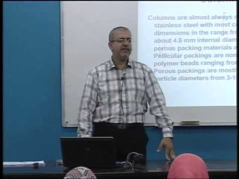 Lecture 41: High Performance Liquid Chromatography(2)