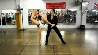Nery Garcia And Giana Montoya At Gator Salsa Club Spring Formal