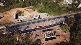 стройка развязки Лыткарино- Новорязанское шоссе 10.09.2017