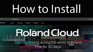 How to install Roland Cloud Plugins/VSTs