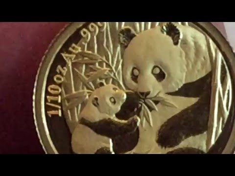 I traded for this 2005 China Gold Panda 1/10th oz in OMP
