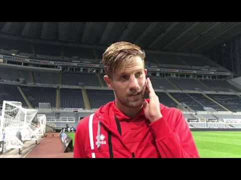 Harry Pell speaking after the 2-0 defeat at Newcastle United