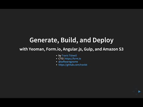 How to Generate, Build, and Deploy Angular.js applications
