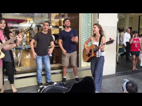 Brisbane CBD Queensland_Queens Street LIVE street music