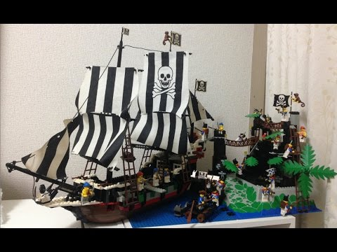 Lego Vintage Pirate Ship Set 6286 Skulls Eye Schooner Youtube